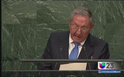 Exilio reacciona a discurso de Raúl en la ONU