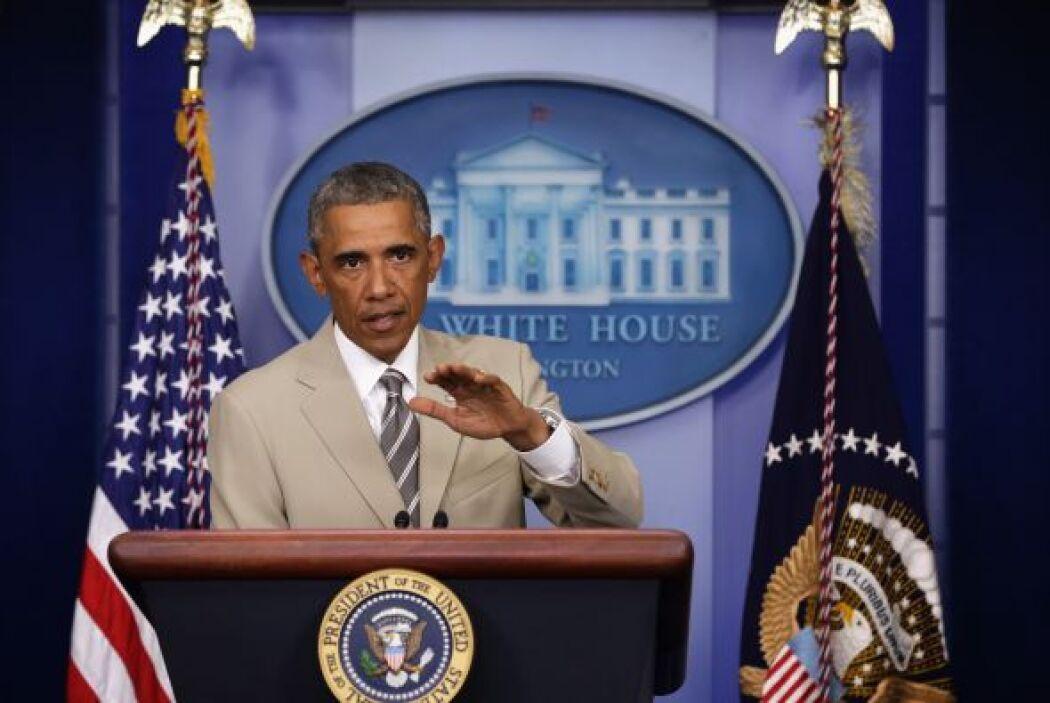 La prensa también hizo eco de la viralización del traje de Obama en las...