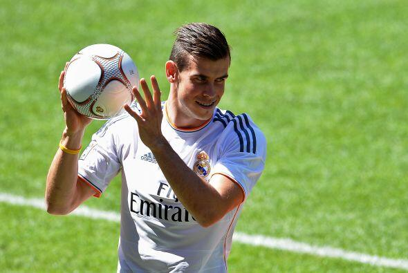 El césped del Bernabéu fue pisado por Bale, quien no podía estar más feliz.