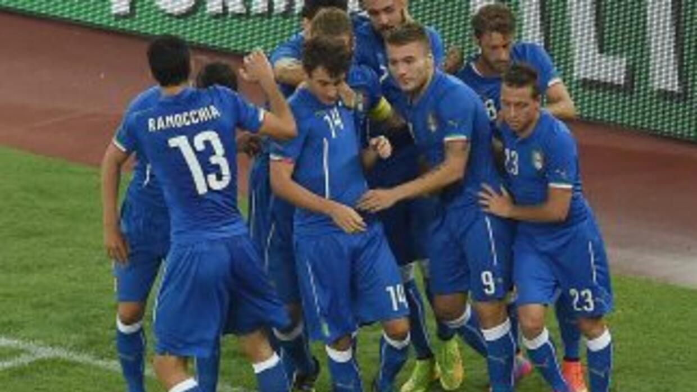Ciro Immobile celebra su gol ante Holanda.