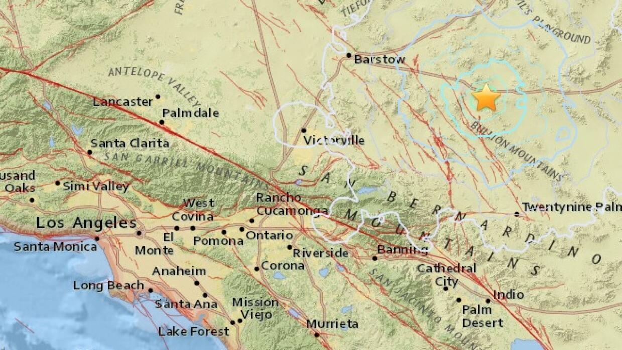 Sismo de magnitud 4 cerca de Ludlow, en el condado de San Bernardino