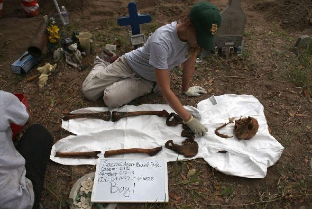 Algunos de estos restos humanos fueron encontrados por la Patrulla Front...