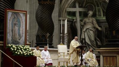 Misa del papa Francisco en honor de la Virgen de Guadalupe.