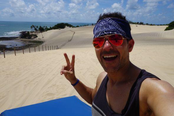Carlos Calderón vivió una gran aventura en las dunas de Natal, un mágico...