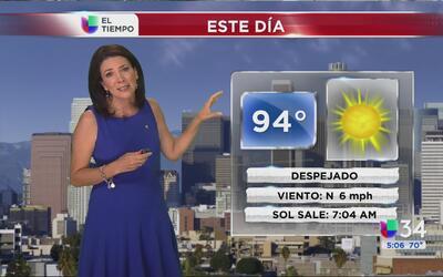 Los Ángeles tendrá un viernes muy caluroso