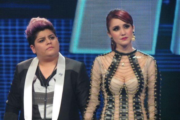 Dulce y Stephanie esperaban el resultado de los jueces.