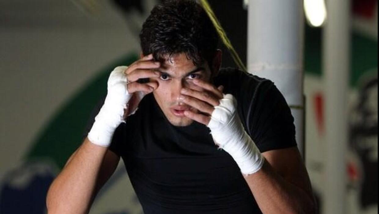 'Zurdo' Ramírez en etapa de entrenamiento.