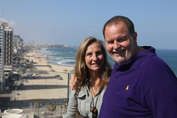 Esta es la segunda ocasión que Mily y Raúl visitan Israel.