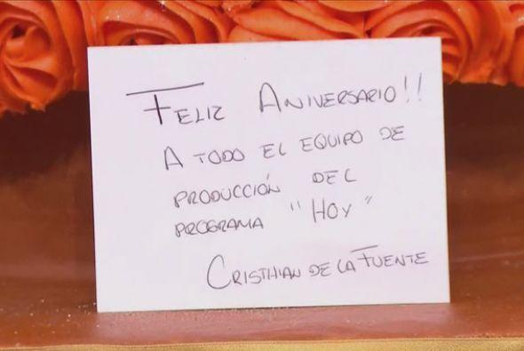 La tarjeta de felicitación de Cristián de la Fuente no podía faltar.