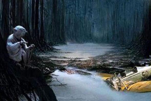 Se estrelló para que Yoda lo entrenara.