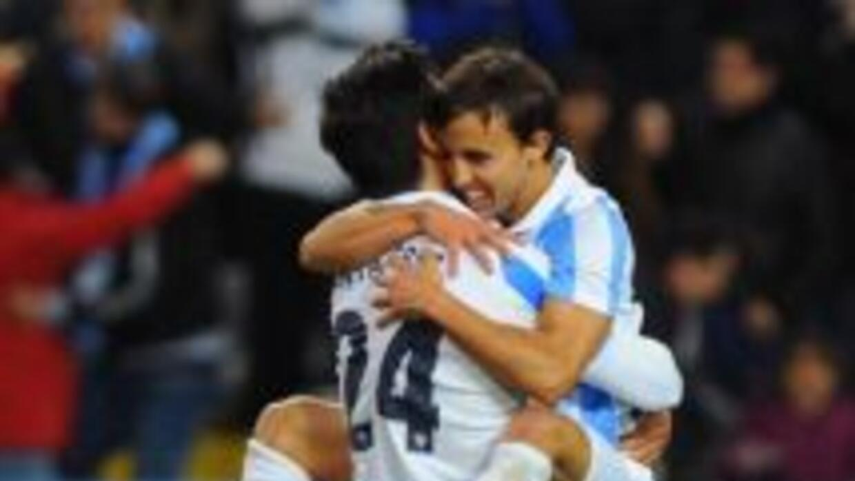 Buonanotte hizo dos goles para guiar el triunfo de Málaga.