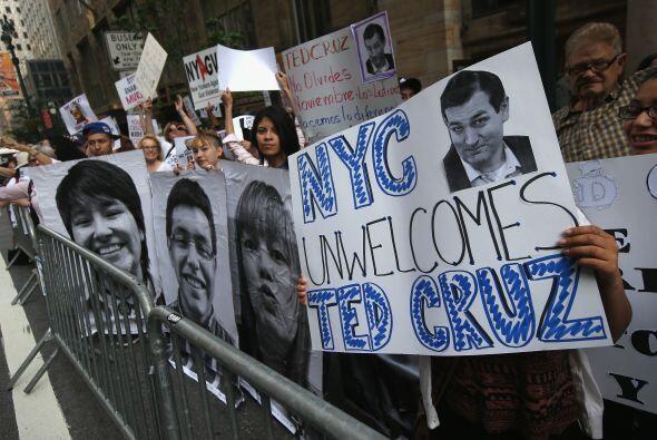 Protesta Ted Cruz en NY