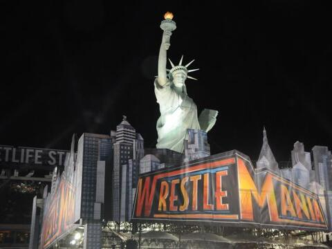 El MetLife Stadium de Nueva Jersey fue la sede de la Wrestlemania XXIX,...