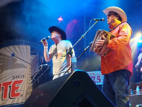 Thousands showed up to help David Lee Garza celebrate his 60th birthday...