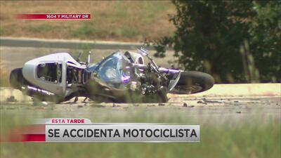 Motociclista grave tras choque en Loop 1604