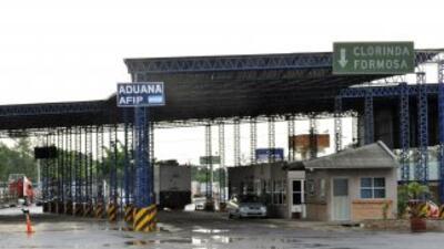La frontera entre Argentina y Paraguay.