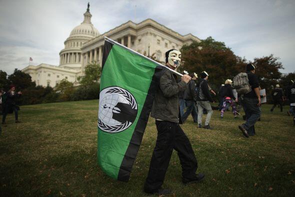 """""""Protestamos por muchas razones"""", explicó auno de los manifestantes, Joh..."""