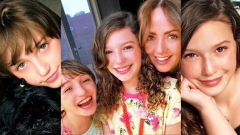 MIa y Nina hijas de Andrea Legarreta