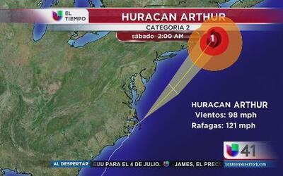 Arthur, no es amenaza para Nueva York