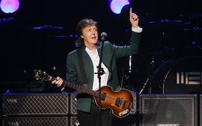 TOKYO, JAPAN - APRIL 28: Paul McCartney performs live at the Budokan on...