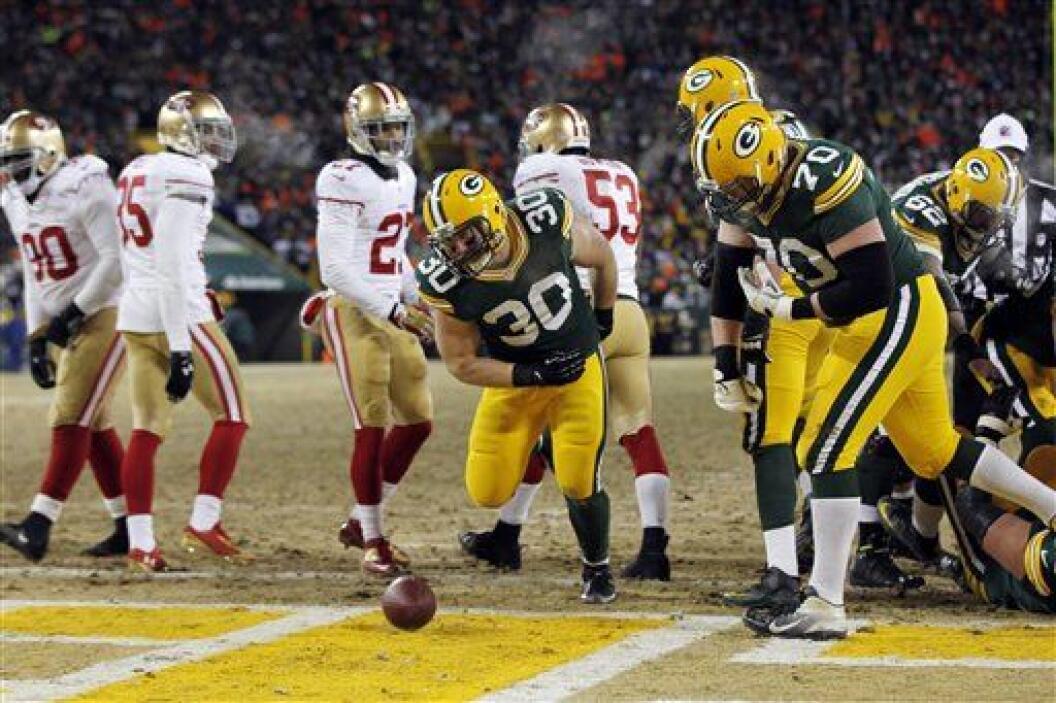 John Kuhn parecía dio la ventaja a los Packers al inicio del último cuar...