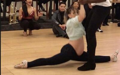 La espectacular participación de una mujer embarazada en un concurso de...