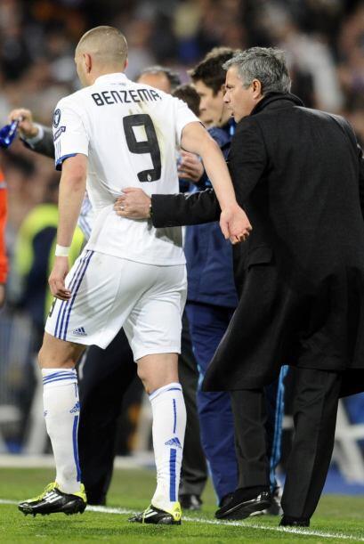 El francés fue felicitado por Mourinho.