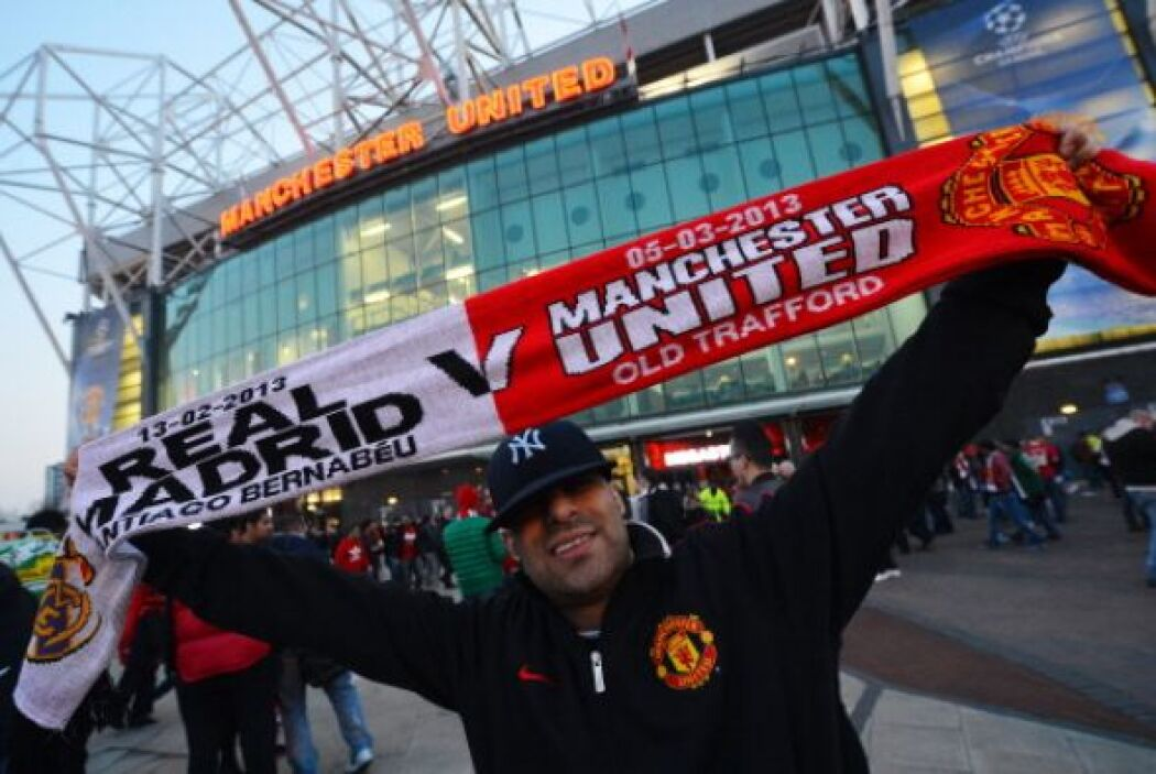 ' Old Trafford' se vistió de fiesta futbolística para recibir al Real Ma...