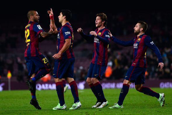 Luis Suárez, Neymar y Messi nuevamente aparecieron juntos en la cancha p...