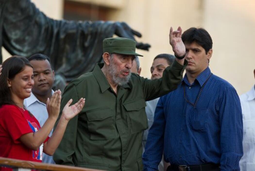 El ex presidente cubano Fidel Castro habló durante 45 minutos en la Univ...
