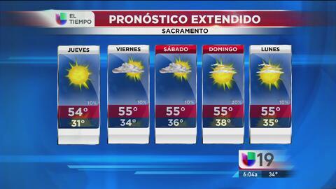 Sacramento tendrá un jueves con cielos despejados