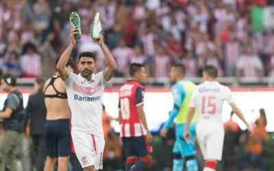 Antonio Naleson en su último partido en la Liga MX.