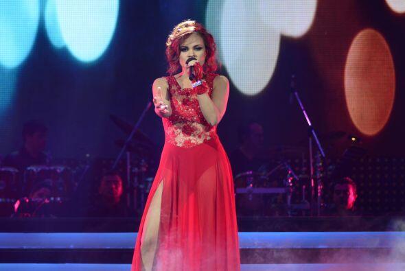 Ana Cristina formó parte del homenaje al juez invitado, Ricky Martin.