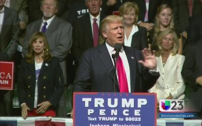 Candente pelea verbal entre Trump y Clinton