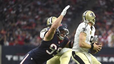 Texans 24-6 Saints: J.J. Watt y la defensiva de Houston contienen a Bree...