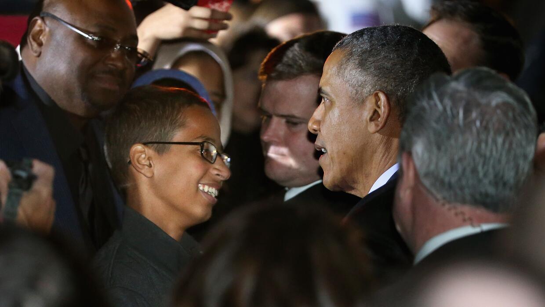 Ahmed Mohamed y Barack Obama