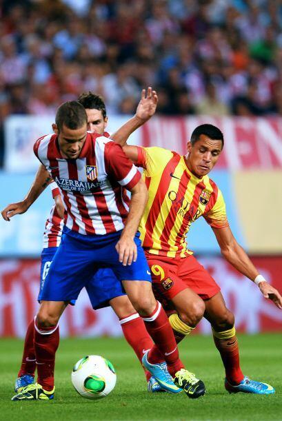 Así pasaron los primeros 45 minutos del encuentro, con un Atlético apost...