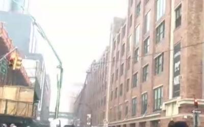 'Nueva York en un Minuto': incendio en Manhattan obligó a una evacuación...
