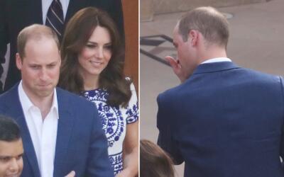 El Duque de Cambridge se puso sentimental.