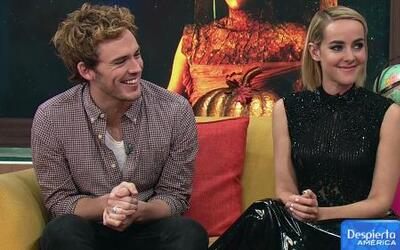 Jena Malone y Sam Claflin de 'The Hunger Games: Catching Fire'