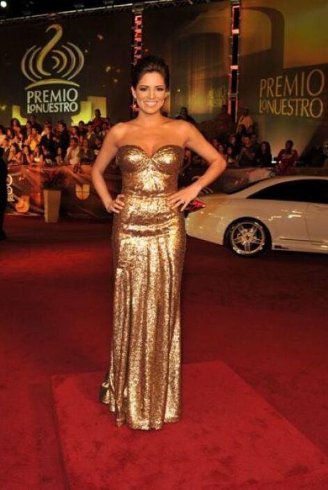 Pamela Silva Conde con un 'look' clásico.