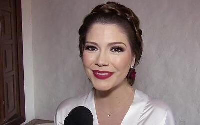 El peinado y el maquillaje de Ana Patricia en su boda