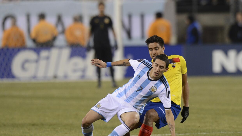 Di María tomará las riendas de Argentina ante la ausencia de Messi.