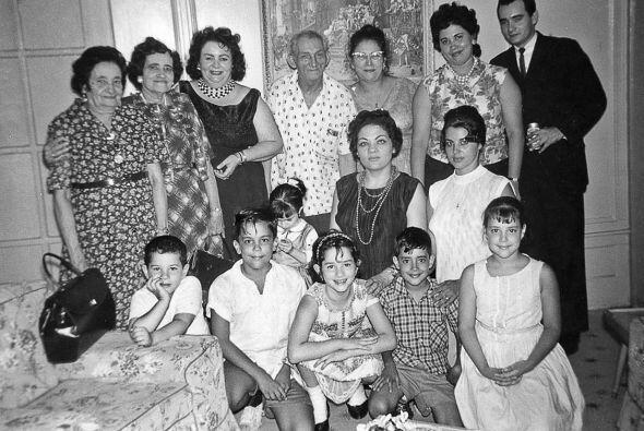 La familia Sotomayor durante una de las tantas reuniones familiares cele...