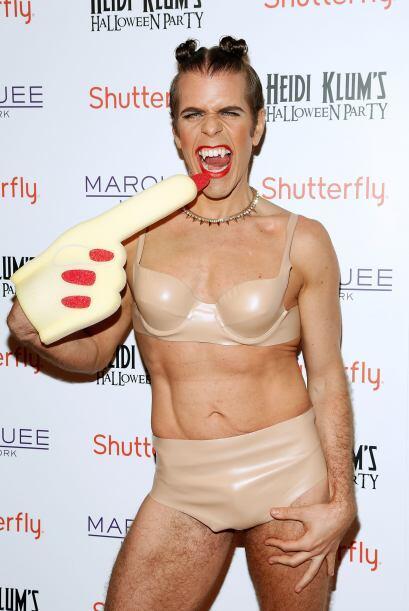 Uno de los atuendos más divertidos fue el de Perez Hilton, &iques...
