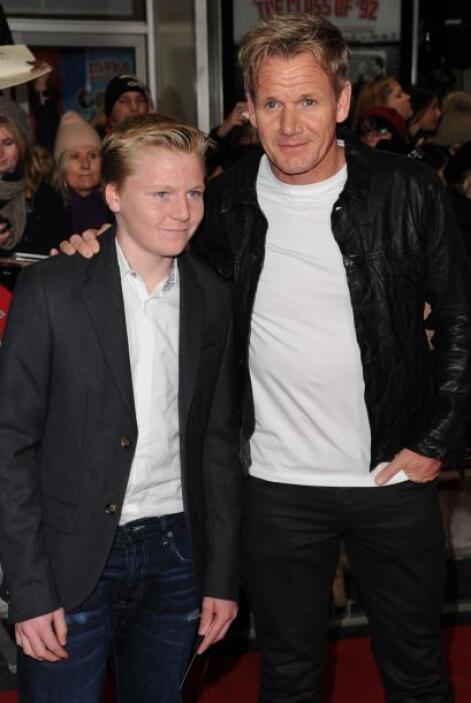 El famoso chef británico Gordon Ramsey fue acompañado de su hijo Jack Sc...