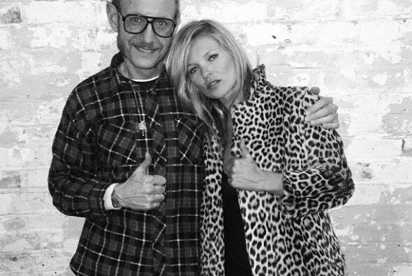 La top model Kate Moss también se dejó fotografiar por este hombre para...