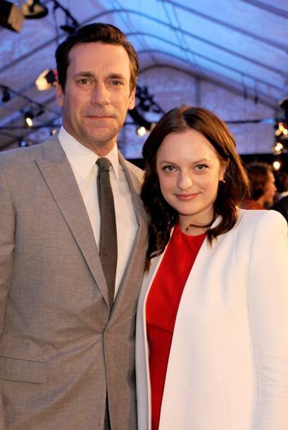 """Jon Hamm y Elisabeth Moss, compañeros en """"Mad Men"""".  Mi..."""