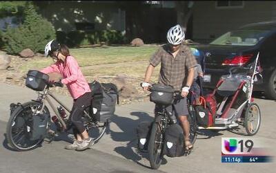Viajan de Sacramento a LA ¡en bicicleta!