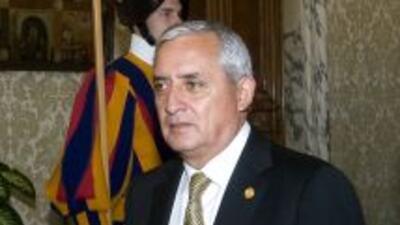 El presidente de Guatemala,Otto Pérez Molina.